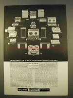 1963 Sony Tape Recording Equipment Ad - Complete Line