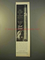1963 Gold Label Barcelona-in-Cedar Cigar Ad - Havana