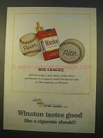 1963 Winston Cigarettes Ad - Big League