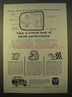 1963 Saab 96 Car Ad - Look at Performance