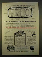 1963 Saab 96 Car Ad - Critical Look at Safety
