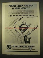 1963 American Trucking Industry Ad - Keep in High Gear