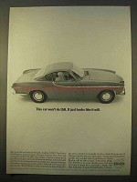 1963 Volvo P1800 Car Ad - This Car Won't Do 150