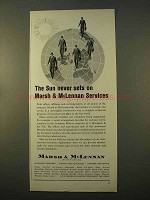 1963 Marsh & MicClennan Insurance Ad - Sun Never Sets