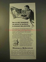 1963 Marsh & MicClennan Insurance Ad - Data Processing