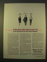1963 Members New York Stock Exchange Ad - A Buyer