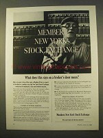 1963 Members New York Stock Exchange Ad - This Sign