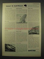 1963 Qantas Airways Ad - Today in Australia