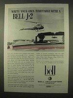 1963 Bell 47J-2 Helicopter Ad - Your Own Timetable