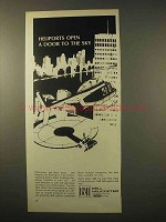 1963 Bell Helicopter Ad - Heliports Open Door to Sky