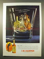 1963 I.W. Harper Bourbon Whiskey Ad - In Every Glass