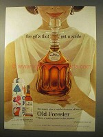 1963 Old Forester Bourbon Whiskey Ad - Get a Smile
