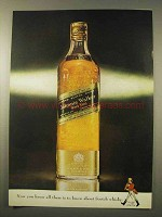 1963 Johnnie Walker Black Label Scotch Ad - You Know