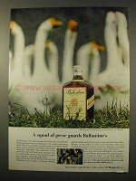 1963 Ballantine's Scotch Ad - Squad of Geese Guards