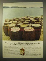 1963 Ballantine's Scotch Ad - Fine Highland Whiskies