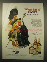 1963 Dewar's White Label Scotch Ad - Highlander