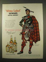 1963 Dewar's White Label Scotch Ad - Clan Wallace