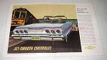 1963 Chevrolet Impala Convertible Car Ad - Jet-Smooth