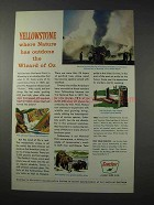 1963 Sinclair Oil Ad - Yellowstone