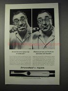 1963 Squibb Broxodent Toothbrush Ad - Overly-Vigorous