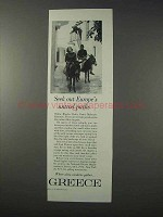 1963 Greece Tourism Ad - Seek Europe's Untrod Paths