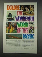 1963 Pacific Area Travel Association Ad - Explore