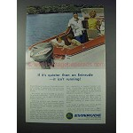 1963 Evinrude Outboard Motor Ad - If It's Quieter