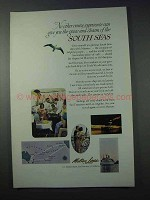 1963 Matson Lines Cruise Ad - Charm of South Seas