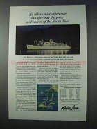 1963 Matson Lines Cruise Ad - Grace and Charm