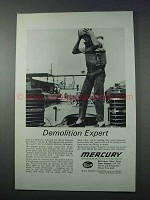 1963 Mercury Outboard Motor Ad - Demolition Expert