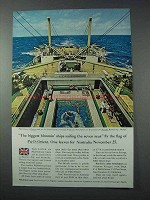 1963 P&O Orient Cruise Ad - Biggest Blooming Ships