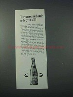 1963 Seven-Up 7up Soda Ad - Turnaround Bottle