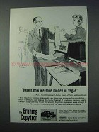 1963 Bruning Copytron Copier Ad - Save Money in Vegas