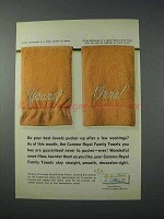 1963 Cannon Royal Family Towels Ad - Yours? Ours!