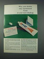 1963 Crest Tooth Paste Ad - Dentist May Recommend