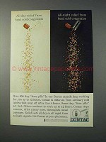 1963 Contac Capsules Ad - Relief Head Cold Congestion