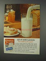1963 Carnation Instant Milk Ad - All of Milk's Protein