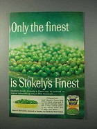 1963 Stokely's Sweet Peas Ad - Only The Finest
