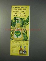 1963 Kraft Italian Dressing Ad - Even With Calories Cut