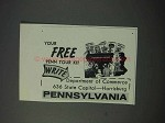1963 Pennsylvania Tourism Ad - Department of Commerce