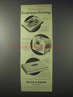 1959 Marcovitch Black & White Cigarettes Ad - Giving