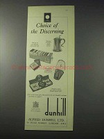 1959 Dunhill Ad - Tobacco, Pipe, Matches, Lighter