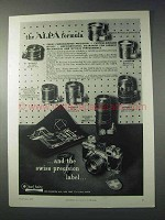 1959 Alpa Camera and Lenses Ad - The Formula