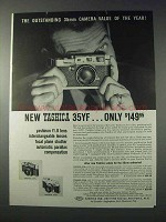 1959 Yashica 35YF Camera Ad - Outstanding