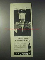 1959 Remy Martin Cognac Ad - A Host Is Known By