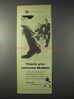 1959 Johnnie Walker Scotch Ad - Thank You