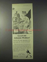1959 Johnnie Walker Scotch Ad - Good Old Johnnie