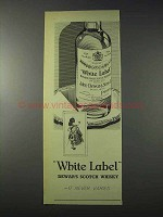 1959 Dewar's White Label Scotch Ad - Never Varies