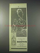 1959 Booth's Dry Gin Ad - Everything Is Better With