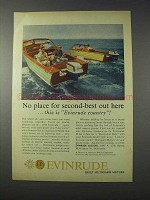 1959 Evinrude Outboard Motor Ad - No Second-Best